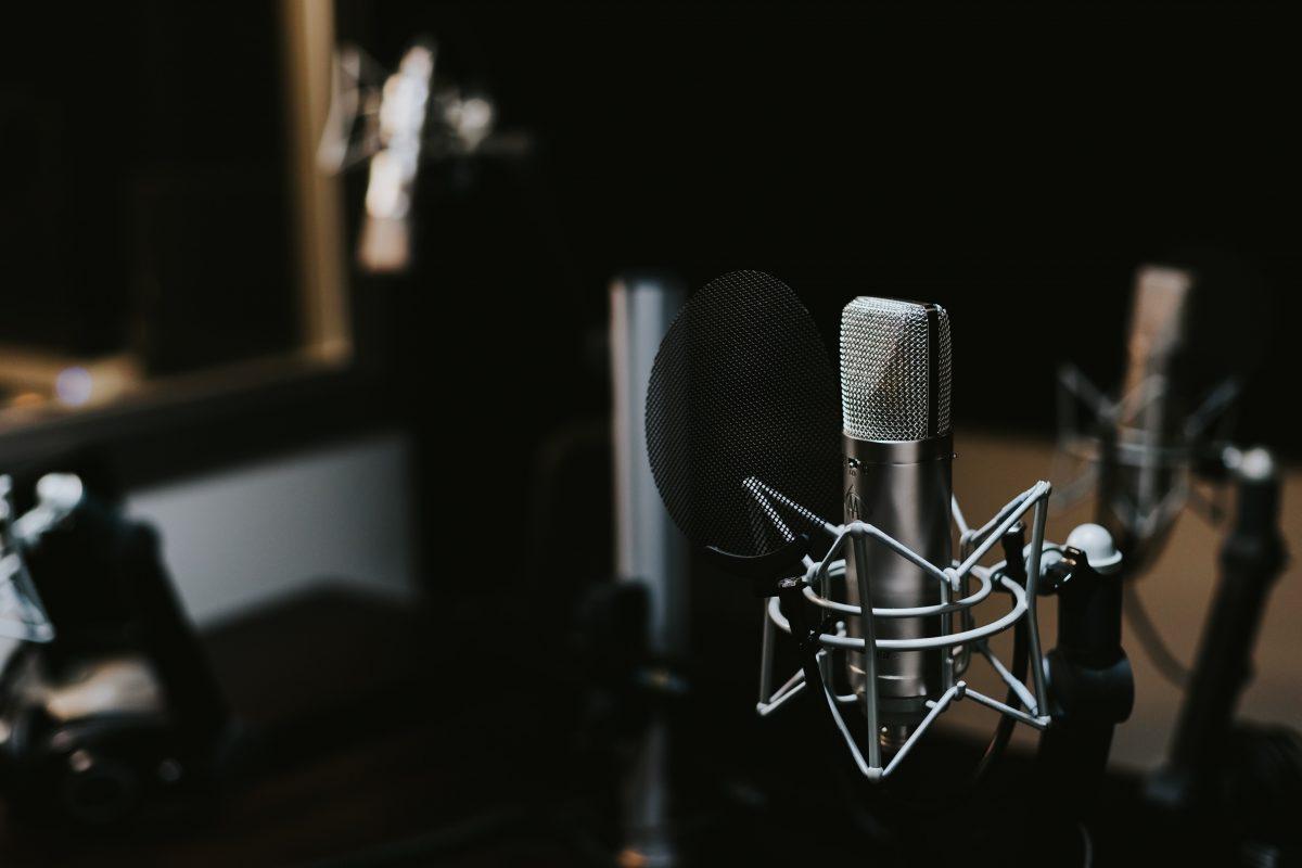 Mikrofon für Radio-Interview